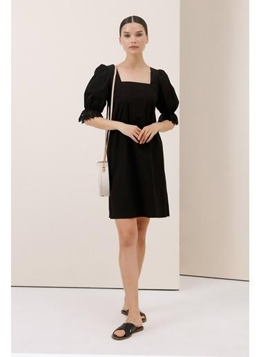 Gusto Koton Elbise - Siyah Koton Elbise - Siyah Siyah